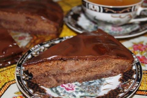 Шоколадно-малиновый торт на сгущенке
