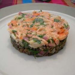 Тартар из свежего тунца и гребешков