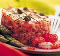 Тартар из лосося со спаржей