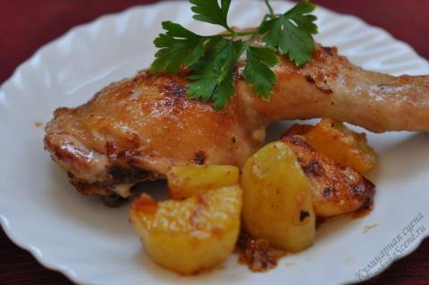 Приготовление картошки с курицей