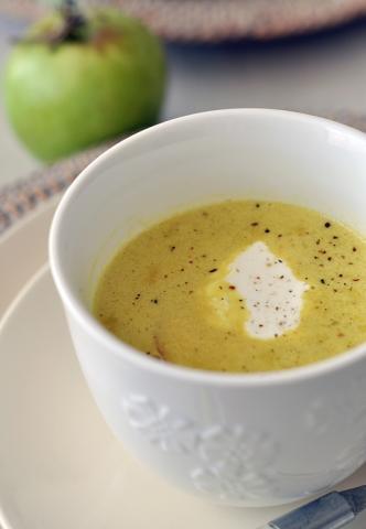 Яблочный суп-пюре с карри