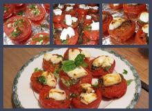 Запеченные помидоры с сыром фета
