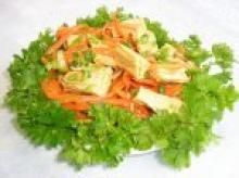 Японский салат из соевой спаржи