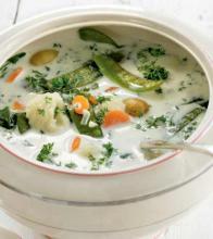 Луковый суп с чесноком