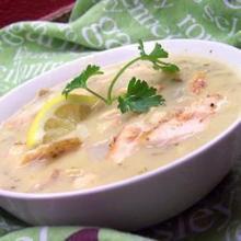Суп Чаудер с копченой рыбой