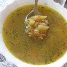 Легкий грибной суп