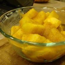 Диетический десерт из яблока и тыквы