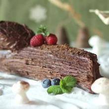 """Десерт """"Шоколадное полено"""""""