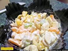 Салат с мандаринами и мороженым