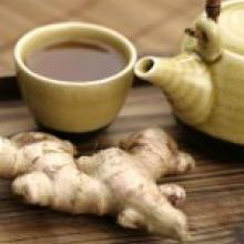 Чай с имбирем: рецепт приготовления