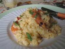 Рис с шафраном и креветками