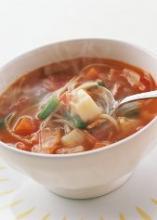Рисовый суп с сосисками