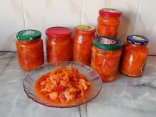 Салат из перца, морковки и томата на зиму