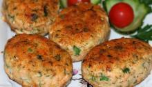 Рыбные котлеты из семги с сыром