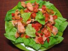 Горячий салат с кетой