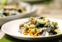 Салат с кукурузой и курицей