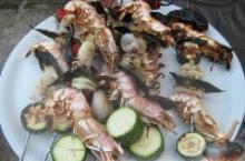 Морские шашлыки из морепродуктов