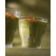 Холодный кабачковый суп с базиликом и лимонным маслом